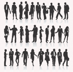 people in shadow